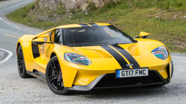 Ford GT Norway road trip - front quarter action