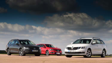 Skoda Octavia Estate vs VW Golf Estate vs Renault Megane Sport Tourer - triple test