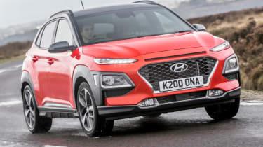 Hyundai Kona review - front cornering