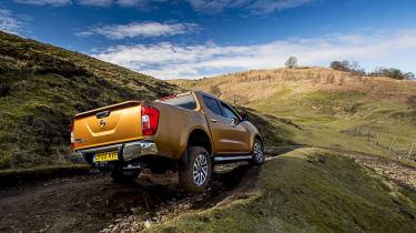 Nissan Navara first UK drive - rear three quarter off road