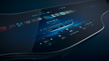 Mercedes EQS Hyperscreen infotainment - screen
