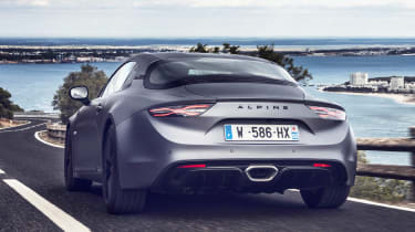 Alpine A110S - rear action
