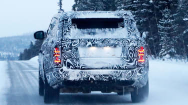 Range Rover Coupe spy shot rear