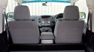 Mitsubishi 4Work SWB interior rear seats and cargo bed