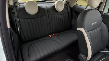 Fiat 500 Cult 2014 rear seats