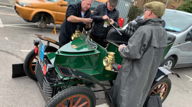 London to Brighton Veteran Car Run  -  gathering around Vauxhall