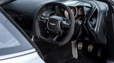 Under the skin, there's the modified running gear of the V8 Vantage, and the DB10 is good for a top speed of 193mph. To make it even more exclusive, Aston only built 10 DB10s, making it a rarity even in the exclusive world of Aston Martins.