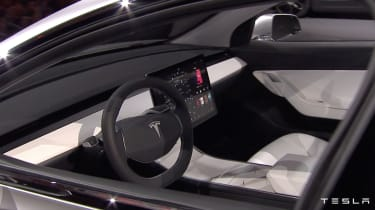 Tesla Model 3 reveal cabin
