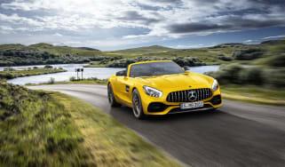 Mercedes-AMG GT S Roadster front outside