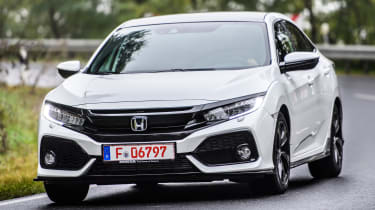 Honda Civic 2016 prototype - front cornering