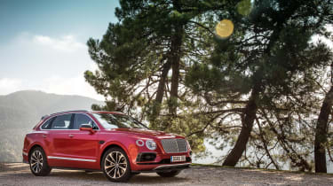 Bentley Bentayga luxury SUV front quarter