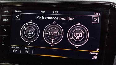 Volkswagen Arteon review - gold infotainment screen
