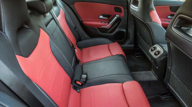 Mercedes A 250 e - rear seats