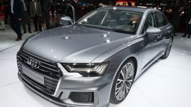 New Audi A6 - Geneva front/side