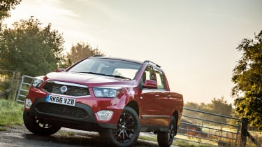 SsangYong Musso - front three quarter