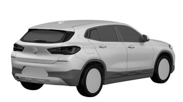 BMW X2 patent leak rear quarter
