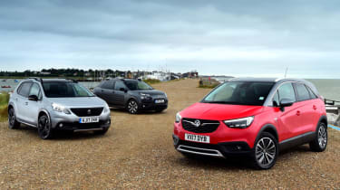 Vauxhall Crossland X vs Citroen C4 Cactus vs Peugeot 2008 - header