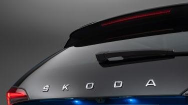 Skoda Scala - rear Skoda badge