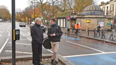 "Expert observers:&nbsp;IAM Roadsmart's head of driving advice, ex-traffic cop Peter Rodger (left), joined our man Saarinen&nbsp;to watch what <span class=""s1"">drivers were up to</span> on London roads"