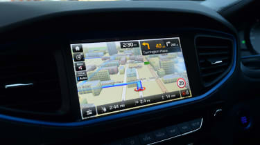 Hyundai Ioniq Plug-in long term - first report sat-nav