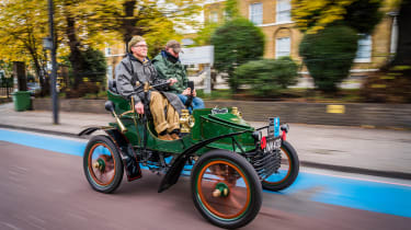 London to Brighton Veteran Car Run  -  front 3/4 tracking