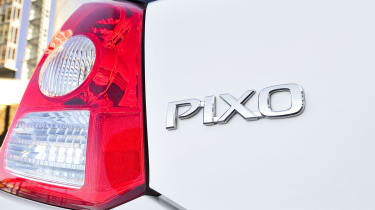 The Pixo comes with a choice of one engine, which is a 1.0-litre three-cylinder producing 68bhp.