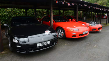 Mitsubishi's 100th year celebration - 3000GT parked