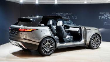 Range Rover Velar show - rear doors open