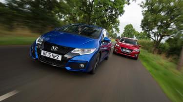 Honda Civic Sport vs Mazda 3 - head-to-head