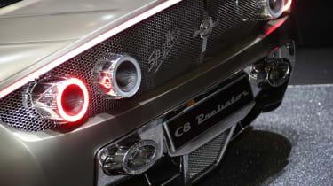 Spyker Preliator - Geneva 2016 - rear lights detail