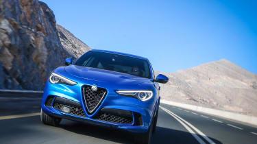 Alfa Romeo Stelvio Quadrifoglio  - head on
