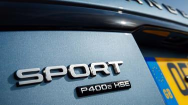 Range Rover Sport P400e - rear badge