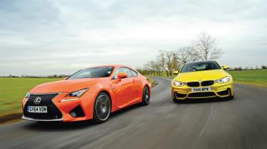 BMW M4 vs Lexus RC F Coupe
