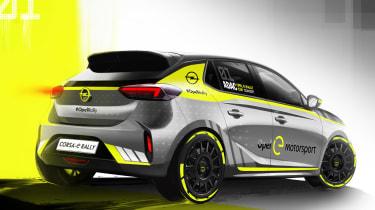 Vauxhall Corsa-e rally - render rear
