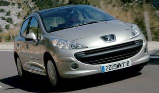 Front view of Peugeot 207 five-door