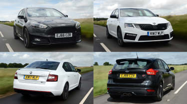Skoda Octavia vRS 245 vs Ford Focus ST - header
