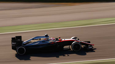 Jenson Button tsting the 2015 McLaren F1 car.