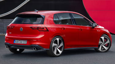 Volkswagen Golf GTI Mk8 - rear (watermarked)