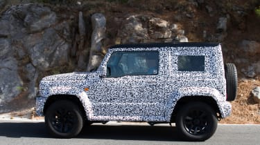 2019 Suzuki Jimny spy shot side