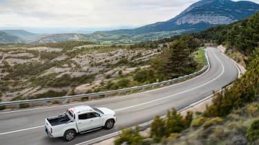 Mercedes X-Class pick-up truck - overhead