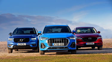 Audi Q3 vs Volvo XC40 vs Mazda CX-5 - head-to-head