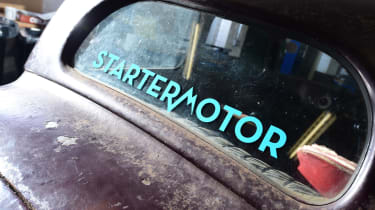 Starter motor classic car window