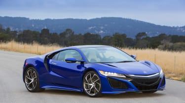 New Honda NSX 2015 blue still