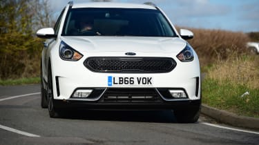 Kia Niro long-term - front cornering
