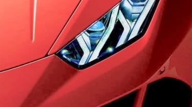 Lamborghini Huracan facelift - headlight teaser