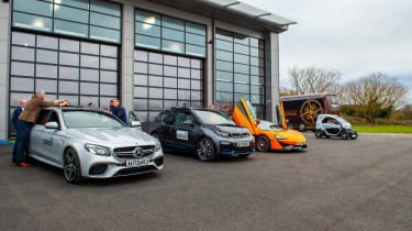 Britain's driverless car network - car line-up