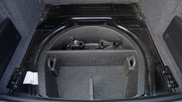 Used Skoda Superb spare wheel area