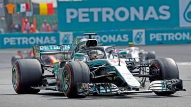 Lewis Hamilton F1 driving