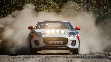 Jaguar F-Type rally car - full front action