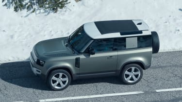 2019 Land Rover Defender side and roof
